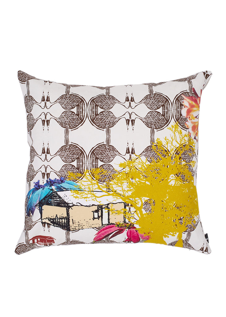 Esplanade Cotton Cushion (Colours of the Sun)