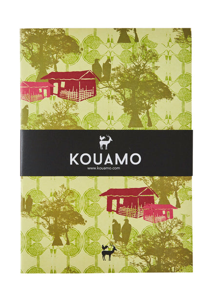 Kouamo - Bangoua Recycled Printed Notebook (Unfurl Green) -