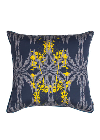 Jutias cushion Blue Yellow Night Sea