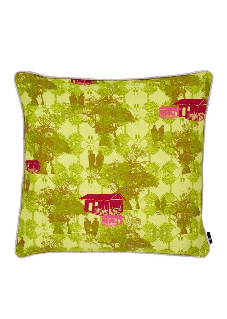 Kouamo - Bangoua Cushion (Unfurl Green) -  - 1