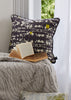 Bamena Dark Grey Velvet Cushion (Velvet night) Image by Yeshen Venema