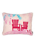 Kouamo - Juan y Pitin Pink Linen Cushion (Warm Welcome)