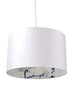 Kouamo - Valle de Vinales Lampshade (White Sands) - 25x41 cm / Ceiling base / Silk - 2