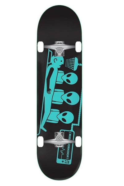 "ALIEN WORKSHOP SKATE COMPLETE ALIEN WORKSHOP ABDUCTION COMPLETE SKATEBOARD 7.75"" - BLACK/TEAL"