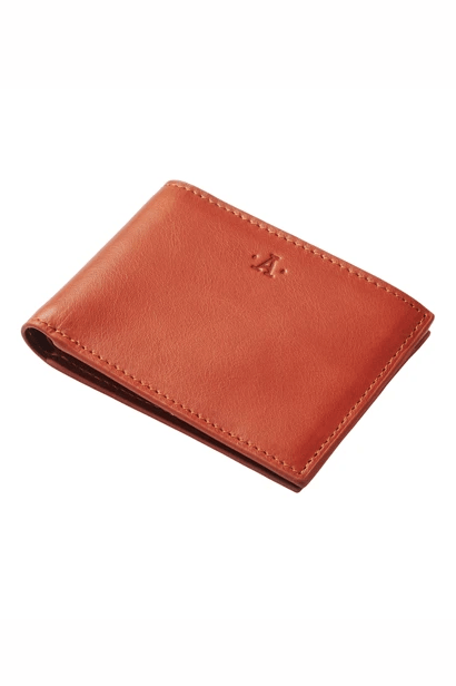 ATLAS LIFESTYLE CO WALLET ATLAS LEATHER WALLET 06 - TAN