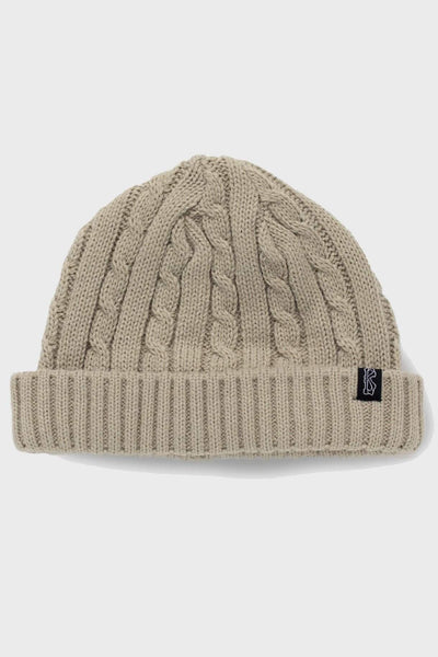 BILLY BONES CLUB BEANIES BILLY BONES CLUB FISHERMEN KNIT BEANIE - VANILLA CREAM