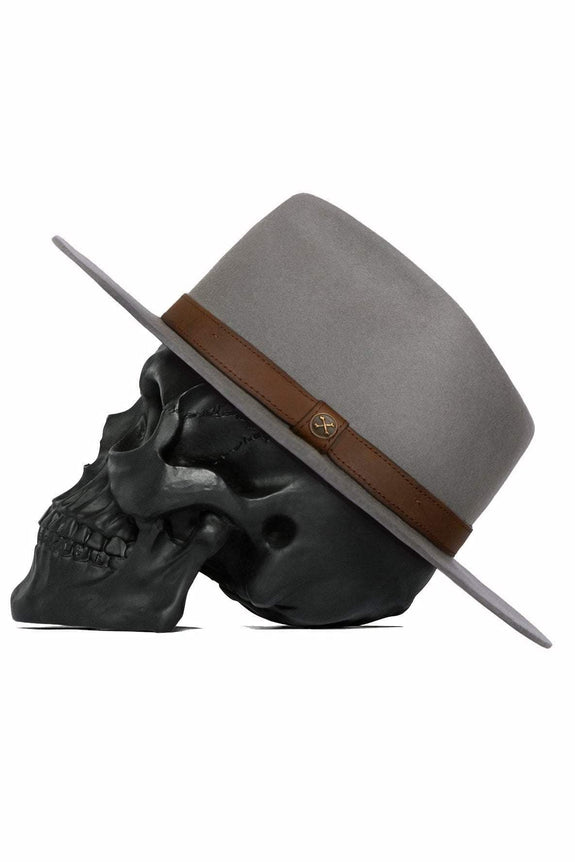 BILLY BONES CLUB HEADWEAR BILLY BONES CLUB ALPHA FEDORA - GREY