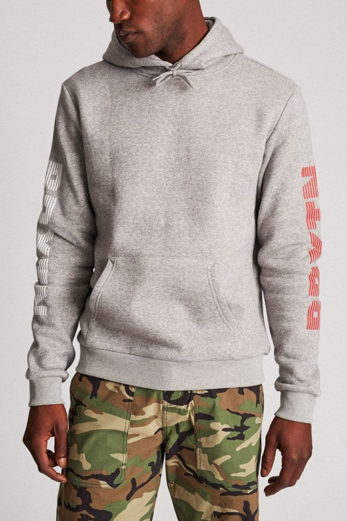 BRIXTON HOODIE BRIXTON HASTE II HOOD - HEATHER GREY