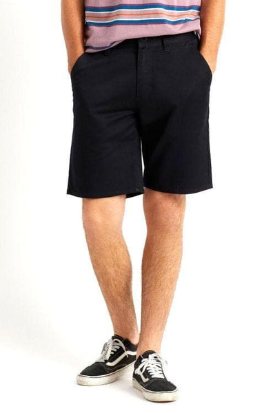 BRIXTON SHORTS BRIXTON CHOICE CHINO SHORT - BLACK