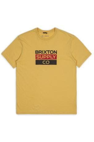 BRIXTON TEES BRIXTON MANTLE TEE - WASHED YELLOW