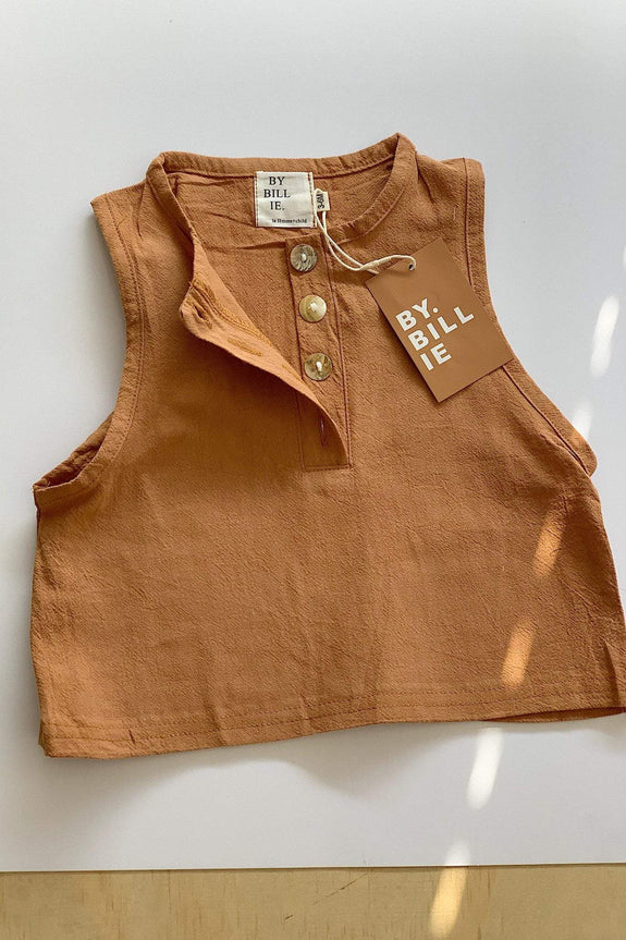BY BILLIE KIDS TOPS BY BILLIE WALLABY TOP - RUST