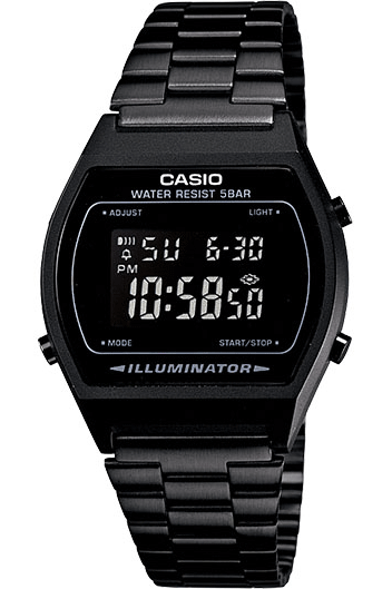 CASIO WATCHES CASIO VINTAGE ILLUMINATOR - BLACK