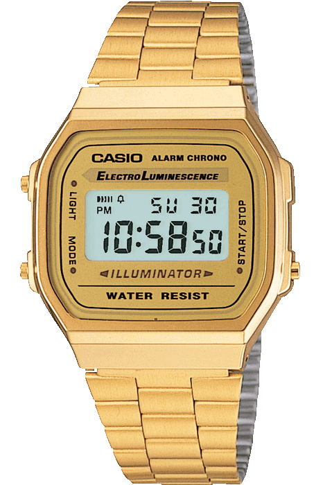 CASIO WATCHES CASIO VINTAGE ILLUMINATOR - GOLD