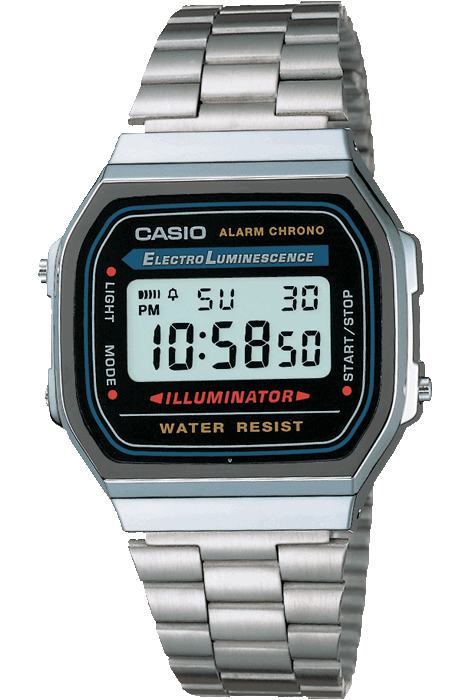 CASIO WATCHES CASIO VINTAGE ILLUMINATOR - SILVER