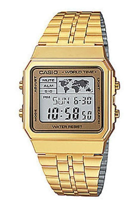 CASIO WATCHES CASIO VINTAGE WORLD WIDE - GOLD