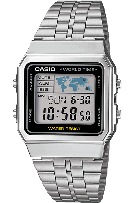 CASIO WATCHES CASIO VINTAGE WORLD WIDE - SILVER