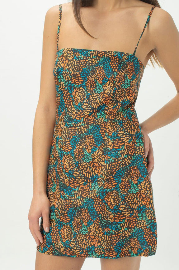 COOLS CLUB DRESSES COOLS CLUB FITTED SHIFT DRESS - PARTY LEOPARD