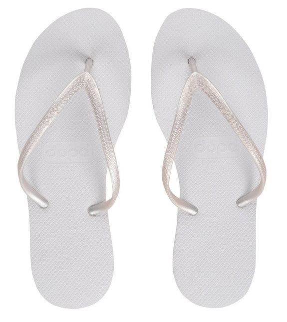DUPE THONGS DUPE 'CHARME' THONGS - WHITE