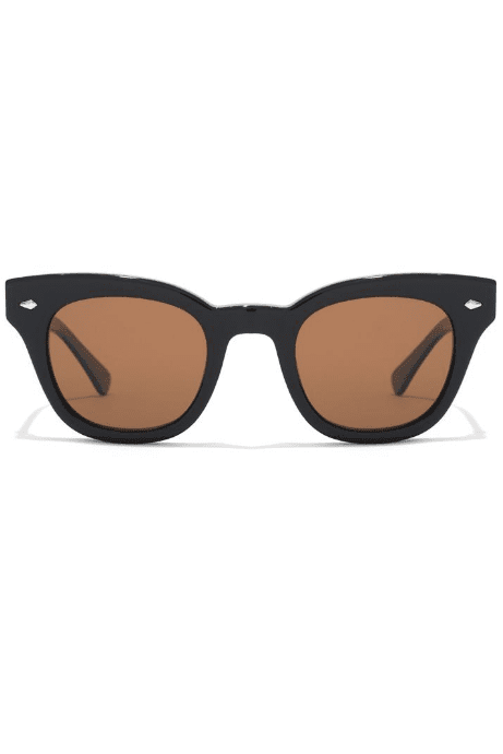 EPOKHE SUNGLASSES EPOKHE 'THE DYLAN' - BLACK GLOSS/BRONZE POLARISED