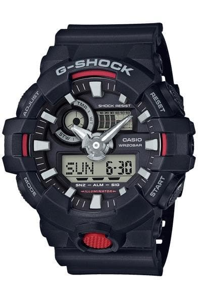 G-SHOCK WATCHES G-SHOCK DUO - BLACK/RED