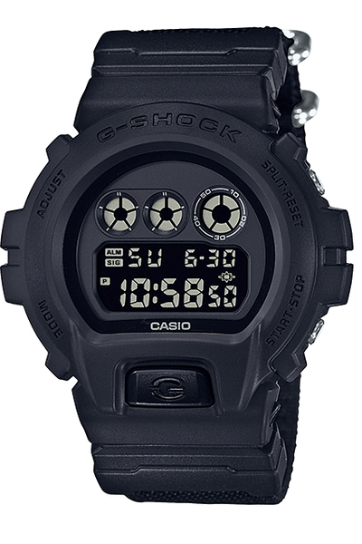 G-SHOCK WATCHES G-SHOCK DW6900BBN-1D BLACK OUT SERIES W/TIME - BLACK/BLACK
