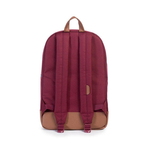 HERSCHEL TRAVEL HERSCHEL SUPPLY CO HERITAGE BACKPACK - BURGUNDY/TAN