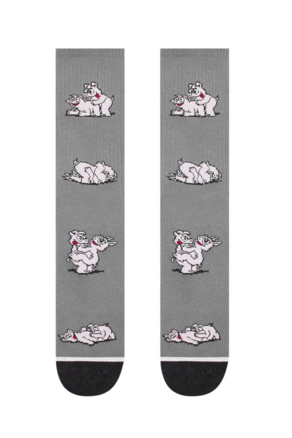 HUF SOCKS HUF MAKIN BACON SOCKS - GREY