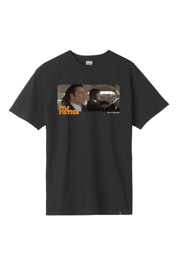 HUF TEES HUF X PULP FICTION 'ROYALE WITH CHEESE' - BLACK