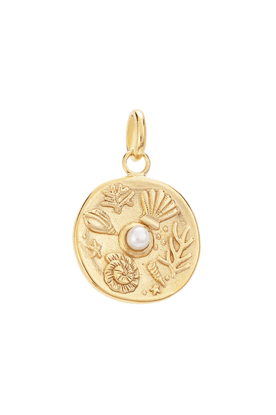 KIRSTIN ASH JEWELLERY KIRSTIN ASH TINY BY THE SEA COIN - 18K GOLD VERMEIL
