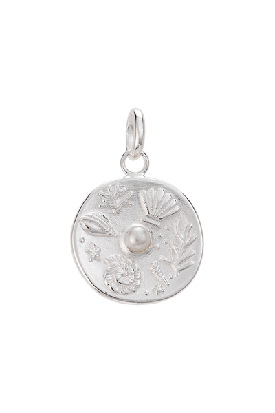 KIRSTIN ASH JEWELLERY KIRSTIN ASH TINY BY THE SEA COIN - STERLING SILVER