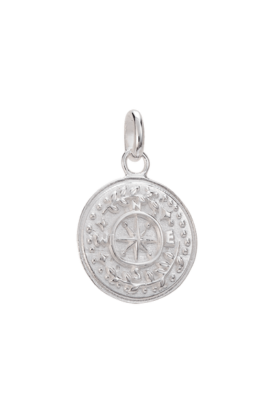 KIRSTIN ASH JEWELLERY KIRSTIN ASH TINY TREASURE COIN - 925 STERLING SILVER