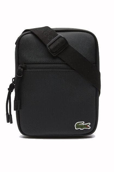 LACOSTE BAGS LACOSTE L.12.12 CONCEPT FLAT ZIP SIDE BAG - BLACK