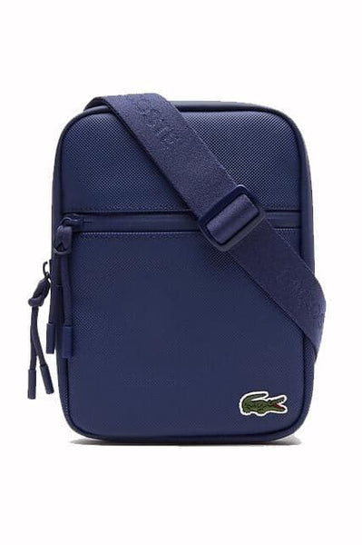 LACOSTE BAGS LACOSTE L.12.12 CONCEPT FLAT ZIP SIDE BAG - ESTATE BLUE