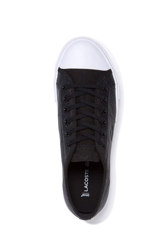 LACOSTE FOOTWEAR LACOSTE WOMENS ZIANE PLUS GRAND LEATHER SHOE - BLACK