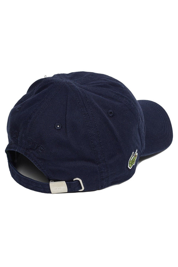 LACOSTE HEADWEAR LACOSTE BASIC SIDE CROC COTTON CAP - NAVY