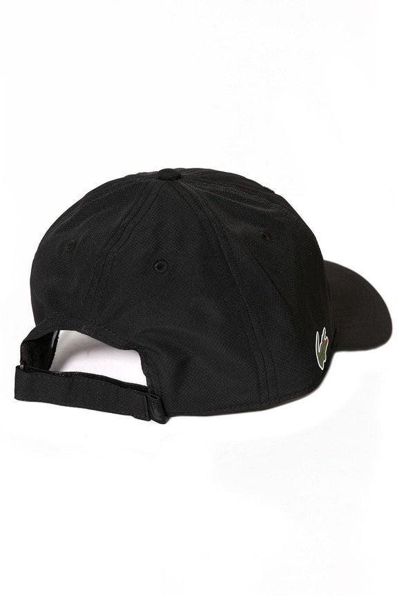 LACOSTE HEADWEAR LACOSTE BASIC SIDE CROC SPORT DRY FIT CAP - BLACK