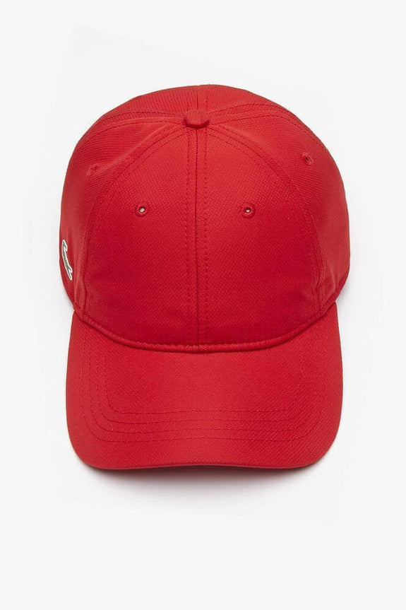 LACOSTE HEADWEAR LACOSTE BASIC SIDE CROC SPORT DRY FIT CAP - RED