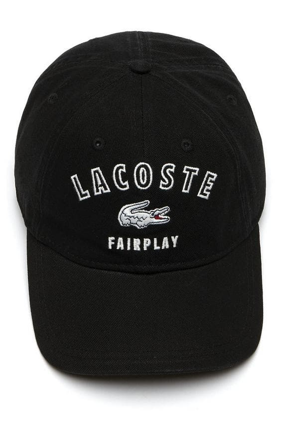 LACOSTE HEADWEAR LACOSTE FAIRPLAY CAP - BLACK