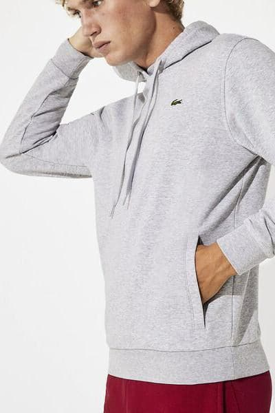 LACOSTE HOODIES LACOSTE TRAINING HOODIE - SILVER/NAVY