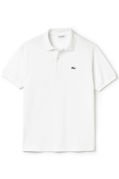 LACOSTE POLO XS LACOSTE CLASSIC FIT POLO - WHITE