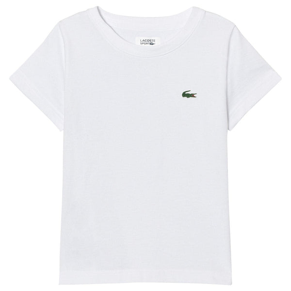 LACOSTE TEES LACOSTE BASIC SPORT TEE - WHITE