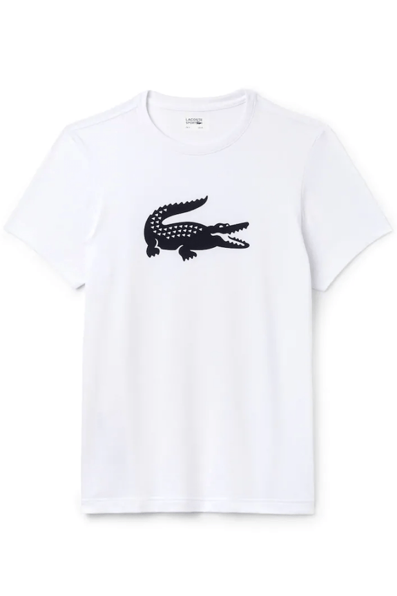 LACOSTE TEES XS LACOSTE BIG CROC TEE - WHITE/ NAVY CROC