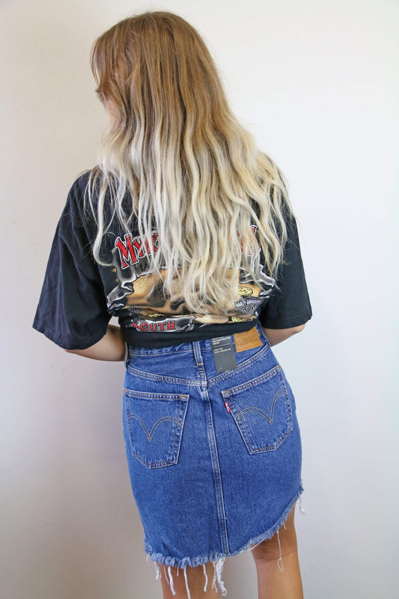 LEVIS SKIRTS LEVI'S HIGH RISE DECON BF SKIRT - MEET IN THE MIDDLE