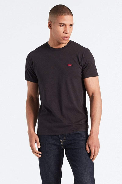 LEVIS TEES LEVI'S CHEST LOGO TEE - BLACK