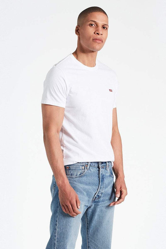 LEVIS TEES LEVI'S CHEST LOGO TEE - WHITE