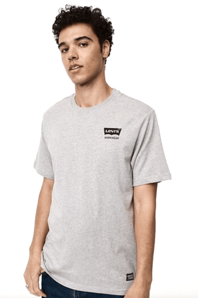 LEVIS TEES LEVI'S RELAXED GRAPHIC TEE - GREY