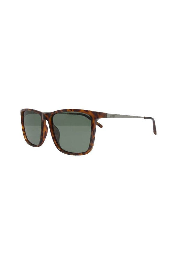 LOCAL SUPPLY SUNGLASSES LOCAL SUPPLY DISTRICT - CTP2 POLISHED CARAMEL TORT - DARK GREEN TINT