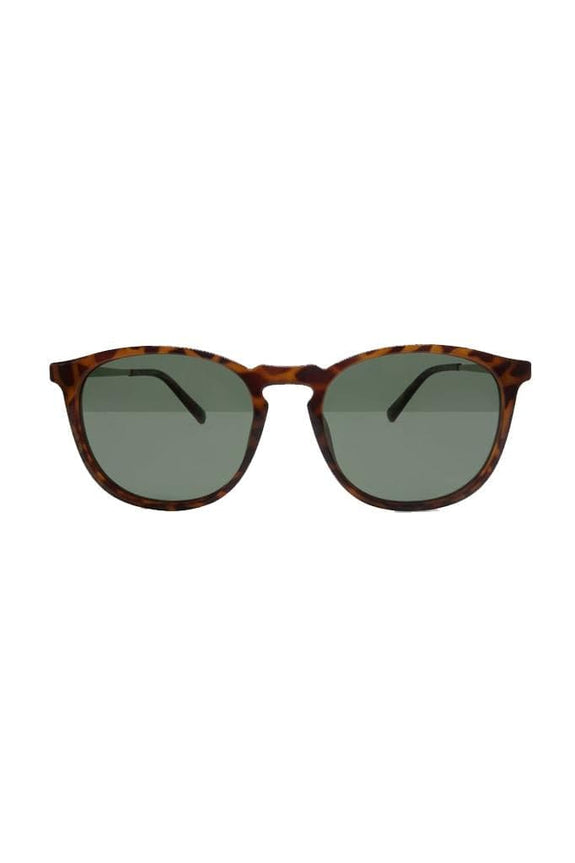 LOCAL SUPPLY SUNGLASSES LOCAL SUPPLY METRO - POLISHED CARAMEL TORT DARK GREEN TINT