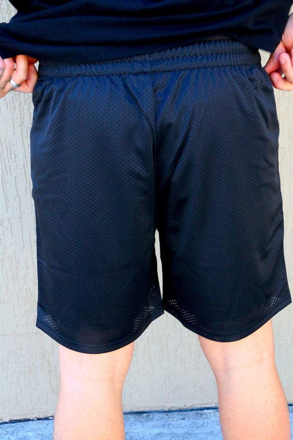 "MAJESTIC ATHLETIC SHORTS MAJESTIC ATHLETIC MESH SHORT ""RAIDERS"" - BLACK"