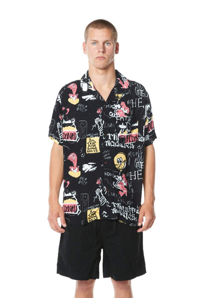 MISFIT APPAREL SHIRTS MISFIT RUNNY MAN SHIRT - BLACK